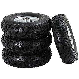 Yaheetech 4 x Sackkarrenrad Räder Reifen Felgen Bollerwagen Stützrad Handwagen Schubkarre