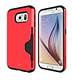 MTT® Tough Armor Shock Proof Case for Samsung Galaxy S6 (RED)