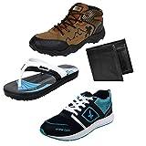 #2: Earton Men Combo Pack of 4 Sports Shoe With Wallet & Slipper
