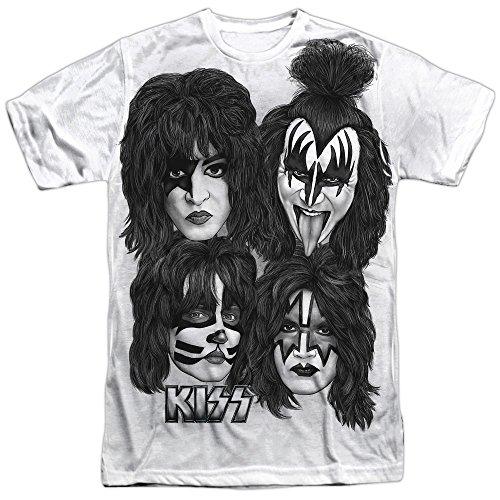 Kiss - Jefes Sub camiseta de los hombres -, Medium, White