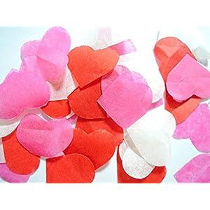 Herzform Konfetti Hochzeit Geburtstag Konfetti, für Hand Craft Rosa Rot Weiße (handgemacht Konfetti)
