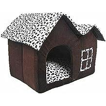 JYSPORT de alta gama mascota casa café marrón perro cálido nido cama de gato (50