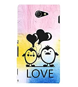 EPICCASE lovers pose Mobile Back Case Cover For Sony Xperia M2 (Designer Case)