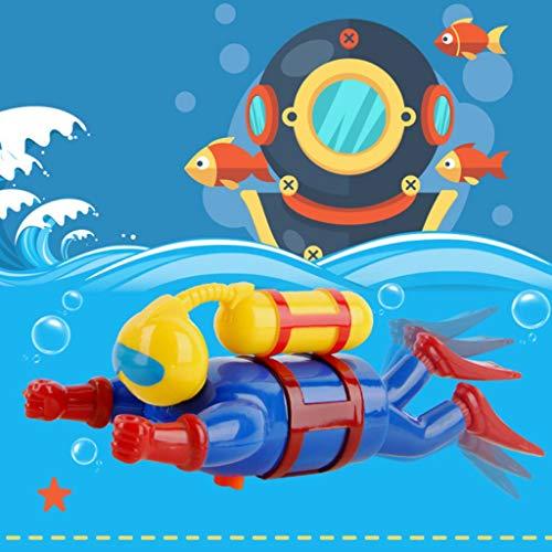 Vektenxi Schwimmer Scuba Diver Baby Badespielzeug, Wind Up Clockwork Meer Kinder Spielzeug langlebig und praktisch