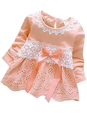 Vestito dalla principessa dell'arco del fiore del merletto del partito di manicotto delle neonate belle Rawdah