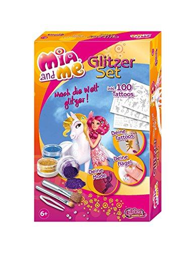Knorrtoys GL7553 - Mia and Me Geschenkset mit temporären Glitzer Tattoos im Mia and Me Style