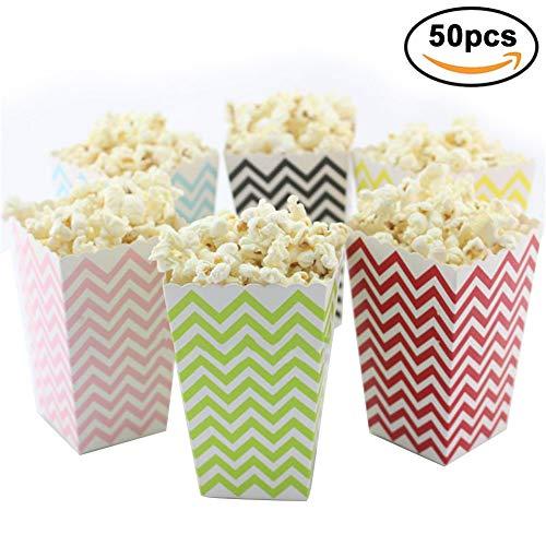 50 stücke Popcorn Boxen Party Candy Container Paperbag Behandeln Popcorn Box Für Party Snacks, Candy, Süßigkeiten, Popcorn (Welle)