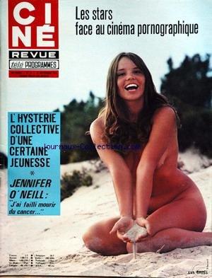 CINE TELE REVUE [No 37] du 12/09/1974 - LES STARS FACE AU CINEMA PORNOGRAPHIQUE - L'HYSTERIE COLLECTIVE D'UNE CERTAINE JEUNESSE - JENNIFER O'NEILL - EVA GROSS - MICHEL ALBERTINI.