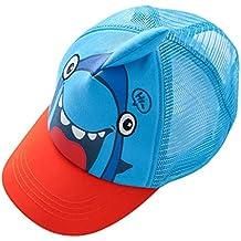 Happy Cherry Verano Sombrero de Béisbol Gorro Plano Infantil Gorra Malla Visera Snapback Baseball Cap para Bebés Niños Niñas