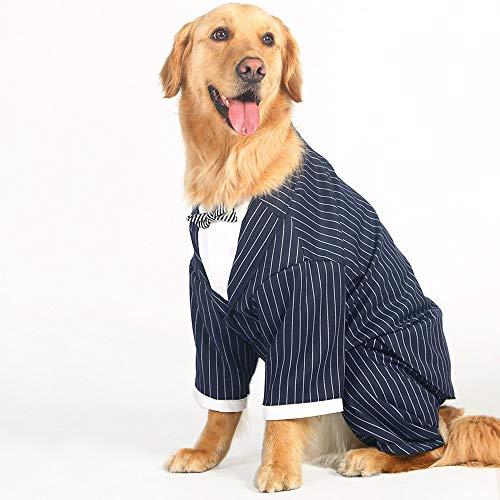 Hochzeitsanzug-kleidung, Hund, Smoking-Kostüme, Formelle Party-Outfits, passt Golden Retriever, Pitbull, Labrador, Samojede YAWJ (Farbe : Striped bow tie suit, größe : 3XL) -
