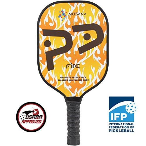 AKISANA Pickleball Paddel, Graphit Gesicht Honeycomb Core 1 Jahr Garantie Beste Paddel für Pickleball Bälle Indoor und Outdoor Spielen USAPA Genehmigt Pickleballpaddle Tennisschläger