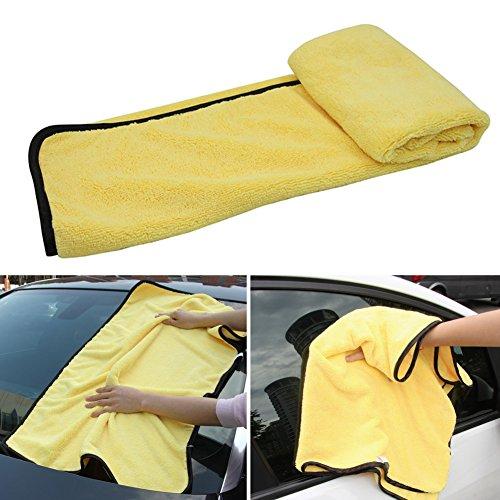 Auto Reinigungstücher, Super Large Microfiber Auto-Trockentuch, Ultra-Dickes Polieren Wachsen Trocknen Reinigungstuch, Auto Detaillierung Handtücher (92 * 56cm)