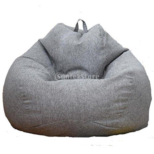 non-brand Sharplace Sitzsack Bezug Sitzsackhülle Abdeckung Ohne Füllung - Grau