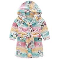 Peignoir enfant à capuche en peluche doux peignoir Peignoir Cartoon chaud Peignoir Pingouin coloré