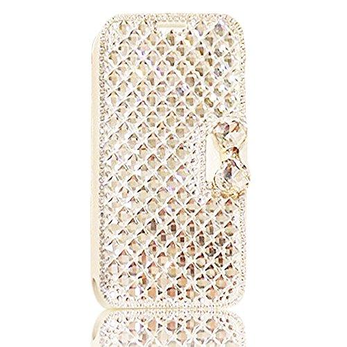 3D Coque iPhone 8 Plus Housse Étui 3 en 1 PU Cuir Case, Vandot Luxe Brillant Diamant Coque Bling Bling Cristal Strass Cover Motif Ange Elf Couverture Magnetic Flip avec Support Stand Wallet Case pour  Diamant 07