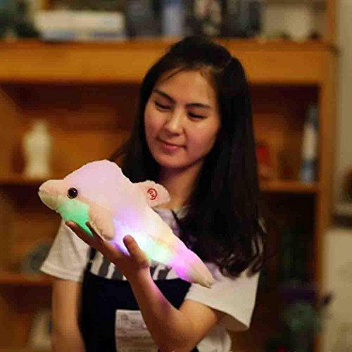 Xshuai 32cm Netter Entwurf schlafend Delphin Glühen LED Kissen Licht weiches Kissen Geschenk Haus...