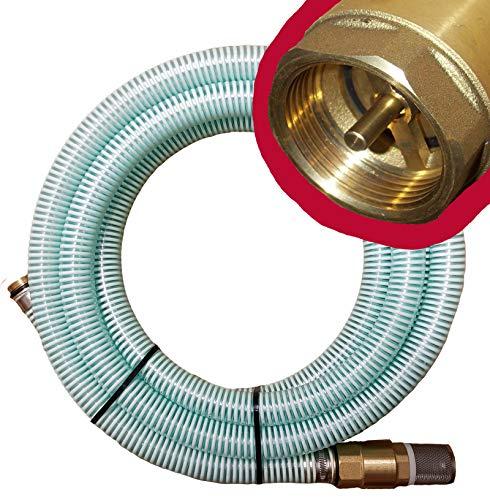 """Brunnenandi Saugschlauch 1\"""" versch. Längen _-=-_ für Elektropumpen Hauswasserwerk, Hauswasserautomat fördern aus Brunnen oder Regentonne geeignet_-=-_ Saugschläuche + Rückschlagventil -=- (**z.B. 4m**)"""