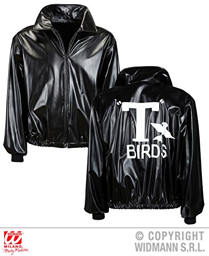 e T-Birds Leder-Look, Größer XL (T Bird Jacke Grease)