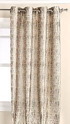 Editex Home Textiles Barbara Jacquard Window Panel, 52 by 84-Inch, Gold