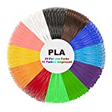PLA Filament 1.75mm - 3D Stift Filament Ink Filament für 3D Pen 3D Drucker-Stift 3D Stift 3D Drucker 12 PCS, 6M, geeignet für Plusinno, Victorstar, Uvistare, QPAU, Juboury, Lauva, Nexgadget, MOHOO, YESTECH, SUNLU, ohCome, 7TECH, Tipeye und Lauva