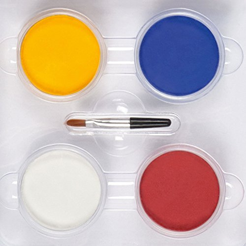 Four Colour Clown Make-Up Set