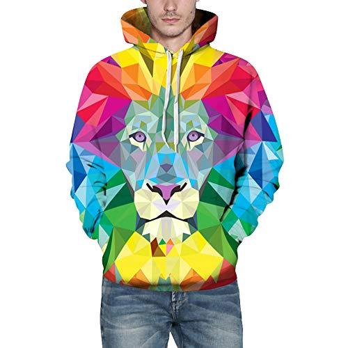 Pullover Herren Lässige Herbst Winter Kapuzenpullover 3D Printing Streetwear Langarm Caps Sweatshirt Top Bluse SANFASHION -