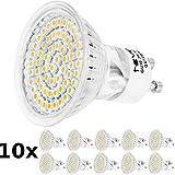 GU10 3W 60SMD3528 LED Spot 230V Warmweiß, 10 Stück