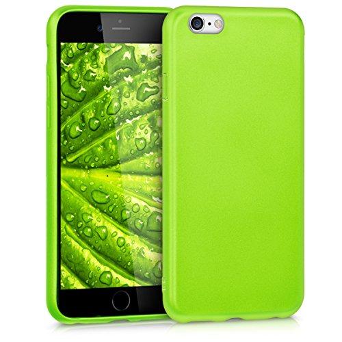 kwmobile Étui en TPU silicone élégant pour Apple iPhone 6 / 6S en rose ancien mat .vert clair métallique