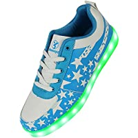 Shinmax Serie de Adultos Zapatillas LED USB de Carga de 7 Colores de Luz Zapatillas con Luces del Zapato Por la Fiesta de Baile de Navidad de San Valentín con el CE Certificado