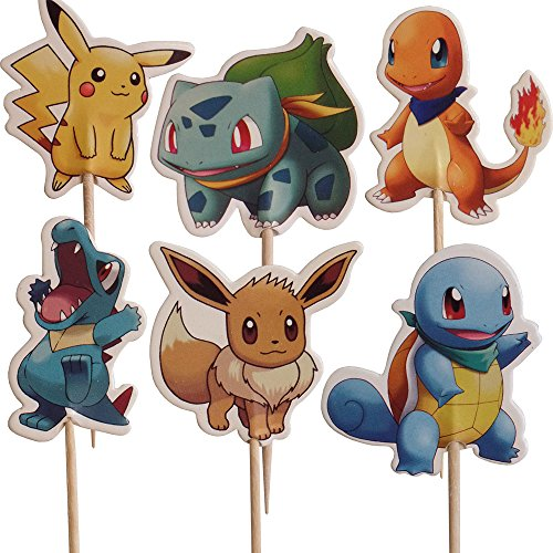 Pokemon Friends-Kuchen-Toppers (Packung mit 24)