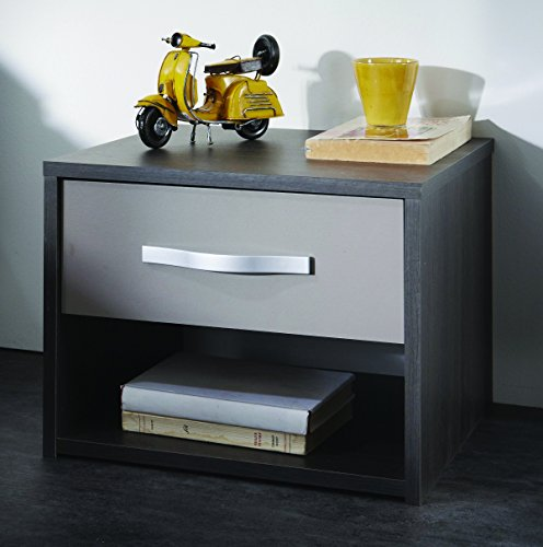 Links-Cooper-9-comodino-Dim-40x359x303h-cm-Nobilitato-Rovere-nero-grigio