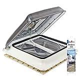 Fiamma Turbo Vent Crystal Kurbeldachhaube Polar Control mit Thermostat 40 x 40 inkl. Dekalin Dichtmittel