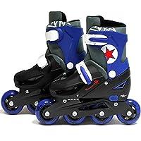SK8 Zone Boys Blue Roller Blades Inline Skates Adjustable Size Childrens Kids Pro Skating New