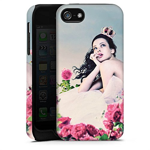 Apple iPhone 5s Housse Étui Protection Coque Princesse Roses Roses Cas Tough terne