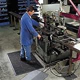 Arbeitsplatzmatte, gelocht - BxH 910 x 12,7 mm - Länge 1520 mm - Arbeitsplatzmatte Arbeitsplatzmatten Bodenbelag Bodenmatte Gummimatte Sicherheitsmatte