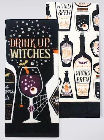 Halloween Küche Handtücher Set-Geist Getränke Thema