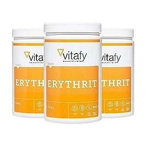 3 x Vitafy Essentials Erythrit (3x1000g)