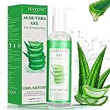 Aloe Vera Gel, Bio 99%, After Sun Aloe Vera, Gesicht, Haare und Körper, Natürliche, Beruhigende und pflegende Feuchtigkeitscreme, Trockene, Strapazierte Haut & Sonnenbrand 250ml
