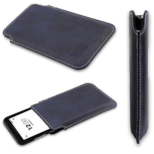 caseroxx Tasche/Hülle Business-Line Etui Lumigon T2 HD - Schutzhülle für Smartphone (Handy Sleeve in blau)