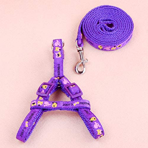 Gowefy Dog Leash Applique Dog Traction Rope Small Dog Chest Strap Dog Take Dog Walking Rope Teddy Dog Chain Necklace Pet Supplies,Violet,1.5 Paragraphs -