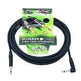 Sommer 059659 Câble mono Jack 6,3 mm 1 x 90° 6 m Noir