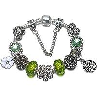 740698968055 QWERST Bracelet Vintage Estilo Europeo Chapado En Plata Y Perlas De Cristal Encanto  Pulseras Abalorios Original