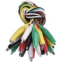 10 Piezas y 5 Colores de Cable de Prueba con Clips de Cocodrilo Cables de Puente de Doble Extremos