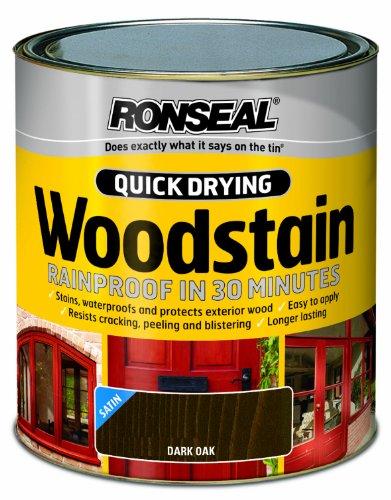 ronseal-qdwsdo250-250ml-woodstain-quick-dry-satin-dark-oak
