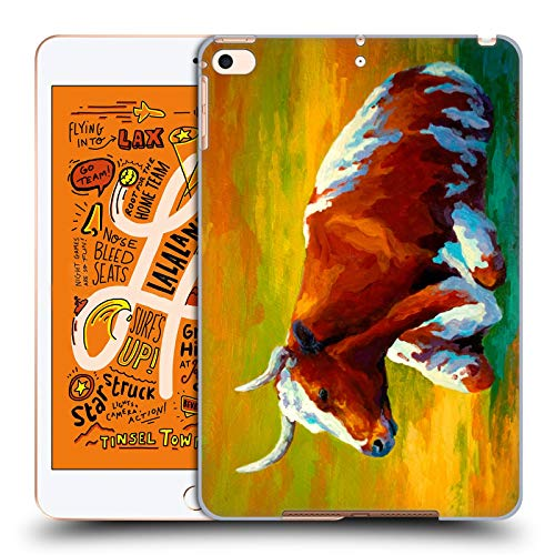 Head Case Designs Offizielle Marion Rose Longhorn Kuh Rinder Harte Rueckseiten Huelle kompatibel mit iPad Mini (2019)