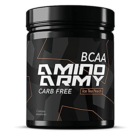 ★ BCAA Powder 25 servings ( Ice Tea Peach ) ★ 6000 mg BCAA + 1000 mg Glutamine + 3000 mg Alanin, Lysine, Glycine ★ Total 10,000 mg amino acids per serving ★ Great for Pre workout & Recovery purposes ★ Supplements