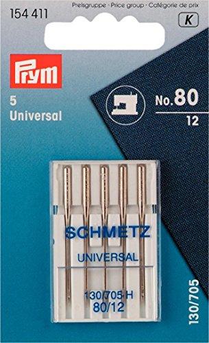 Prym 154411 Nähmaschinennadeln, 5 Stück, Syst.130/705, Standard 80