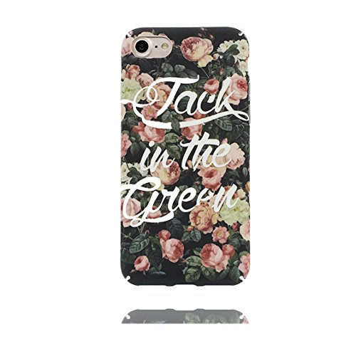 iPhone 7 Custodia, Case iPhone 7 Copertura 4.7 pollici / Disegno unico del materiale di TPU Cartoon Cute Fantasy Protettivo Cover / Graffi Resistenza agli urti - Tropicale Foglie di banana Rosa fiore