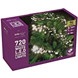 BRITE IDEAS FESTIVE BRIGHT WHITE MULTI ACTION LED CLUSTER LIGHTS CHRISTMAS TREE XMAS OUTDOOR INDOOR (720 LED)