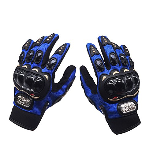 Gants de Moto /All- Doigt Gants d'équitation Extérieur Gants / Off-Road Gants équitation Gants/Locomotive Knight Gants-bleu,XL